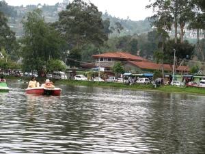 tourists enjoying boat ride
