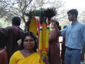 Pilgrim with kavadi