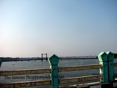 The Old Thoppumpady bridge, Kochi, Kerala